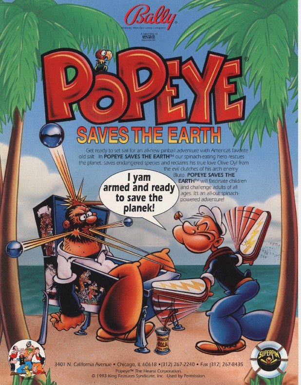 POPEYE SAVES THE EARTH