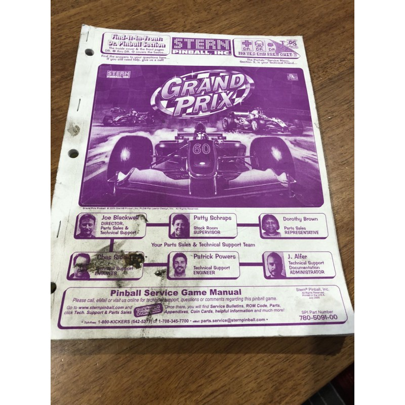 Grand Prix USED manual - MANUALS & CARDS