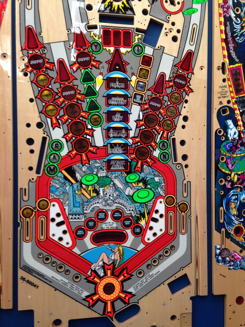 Attack From Mars Playfield Playfields Amp Inserts