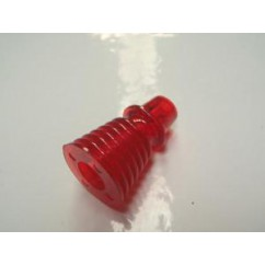 "1-3/16"" Finned / Ribbed Post - TRANSPARENT RED"