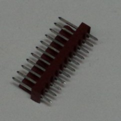 11h str sq pin .100 solid tab connector