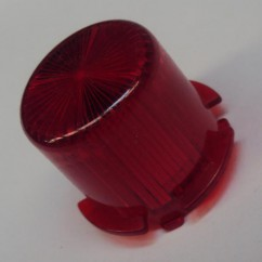Plastic Light Dome  RED  - Twist On
