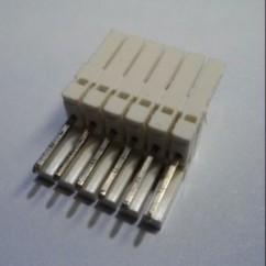 6 pin connector .100 z header mass term lock t