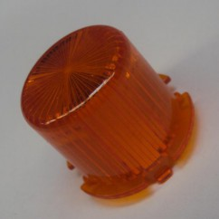 Plastic Light Dome  ORANGE - Twist On