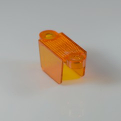 "1-1/4"" Translucent Double Sided Lane Guide -  ORANGE"