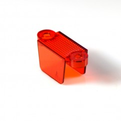 """1-1/4"""" Translucent Double Sided Lane Guide - amber 03-8318-8"""
