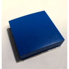 "1"" Square Rubber Pad With Adhesive Backing - BLUE"