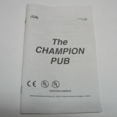 The Champion Pub Handbook