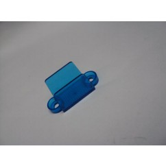 "1-1/4"" Translucent Double Sided Lane Guide - blue"