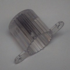 Plastic Light Dome (Screw Tab) - CLEAR