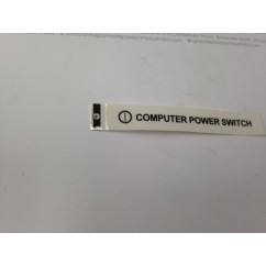 Computer power switch label 16-11096