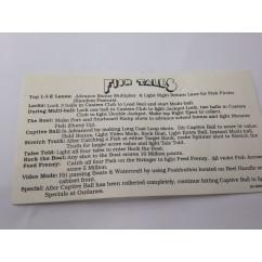 Fishtales instruction card