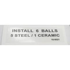 label install balls