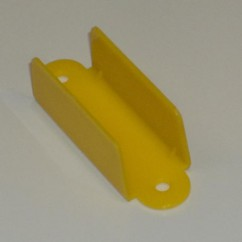 """GOTTLIEB 2-1/8"""" Double Sided Lane Guide - OPAQUE YELLOW"""