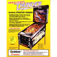 Operation Thunder Gottlieb  rubber kit - Black