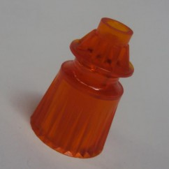 "Plastic Translucent Star Post 1-1/16"" Tall - ORANGE"