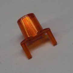 dome jet bumper transparent orange