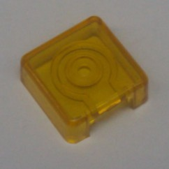Target face - 3D square - transparent yellow