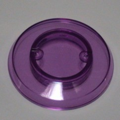 Pop bumper cap - Transparent Violet