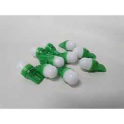 PSPA 2SMD 555 FROSTED GREEN LED 10 PACK OF GLOBES