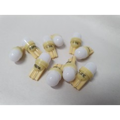 PSPA 2SMD 555 FROSTED YELLOW LED 10 PACK OF GLOBES