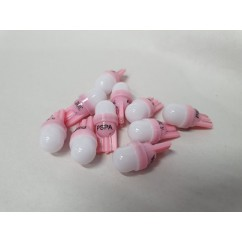 PSPA 2SMD 555 FROSTED PINK LED 10 PACK OF GLOBES