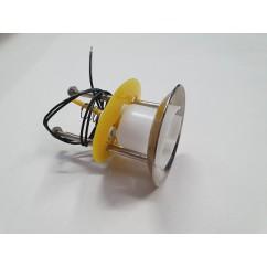 Complete upper pop bumper assembly yellow skirt