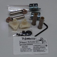 GOTTLIEB  FLIPPER RE-BUILD KIT bone crusher to super mario