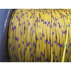 wire 22 g  yellow and purple