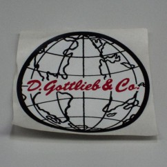 Gottlieb Coin Door Decal   A-17050A