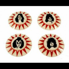 KISS (Bally) pop bumper caps set of 4