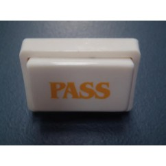 Button White hot stamp PASS 31-1567-1