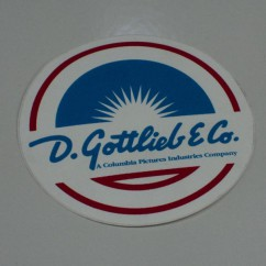 Gottlieb Coin Door Decal A-18768A