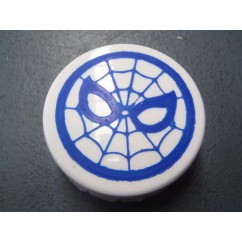 Pop bumper cap with Blue Spiderweb image for Gottlieb SPIDERMAN A-19771