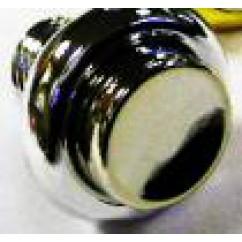 cabinet flipper button chrome