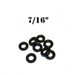 """7/16"""" Black Bumper Post Rings Premium"""