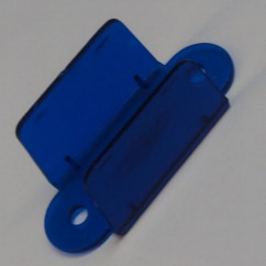 """2-1/8"""" Double Sided Lane Guide - TRANSPARENT BLUE"""