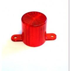 Plastic Light Dome (Screw Tab) - Amber