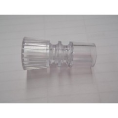 "1-1/2"" tall clear long necked double star post"