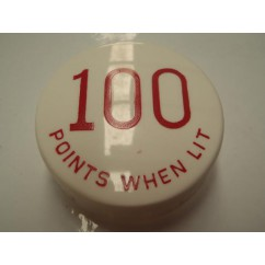 Gottlieb 100 Points When Lit RED POP BUMPER CAP