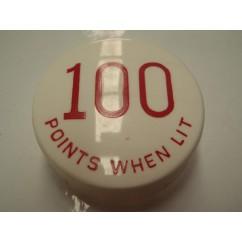 Gottlieb 100 Points When Lit RED POP BUMPER CAP