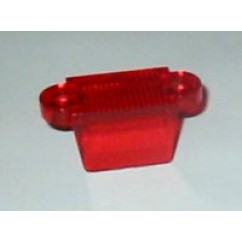 "1-1/4"" Translucent Double Sided Lane Guide -  RED"