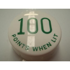 Gottlieb 100 Points When Lit GREEN POP BUMPER CAP