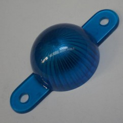 Plastic Starburst Mini Dome with Screw Tabs - blue