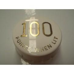 Gottlieb 100 Points When Lit GOLD POP BUMPER CAP