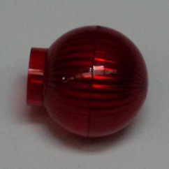 globe light transparent red 03-9441-9