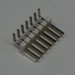 Connector 7h r/a sq pin .156 header