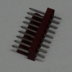 9h str sq pin .100 solid tab connector
