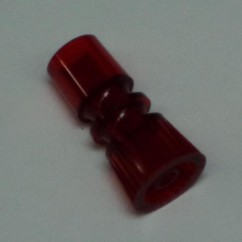 "1-1/2"" tall translucent red long necked double star post"