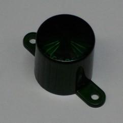 Plastic Light Dome (Screw Tab) - Green